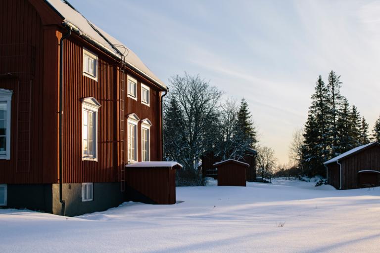 Prästgården är Holmöns enda vinterbonade samlingsplatsen. Foto: Alexandra Ellis
